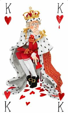 King George III as the King of Hearts by http://twitter.com/birdloaves | Hamilton