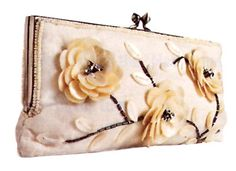 Perfect for a spring affair  Mother Of Pearl framed clutch  Featured in BRIDES magazine  www.moynabags.com  more colors available