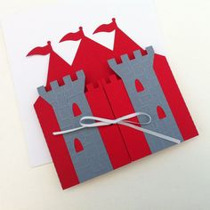 Prince Castle Invitation folders. Knight King by MyPaperPlanet