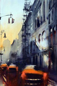 Alvaro Castagnet, watercolor