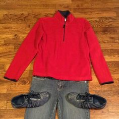 Red Old Navy sweatshirt Red Old Navy with Navy Blue trim. Old Navy Jackets & Coats