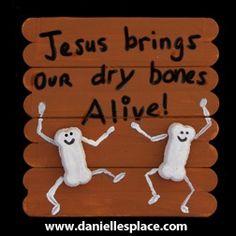 Ezekiel Dry Bones Craft Stick Bible Craft for Sunday School