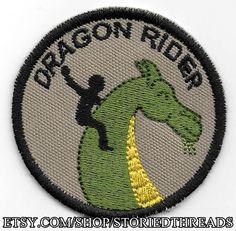 Dragon Rider Geek Merit Badge Patch
