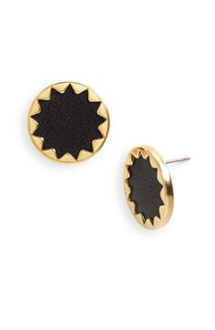 House of Harlow 1960 Sunburst Button Earrings available at Nordstrom: Have them in khaki, but love the black too