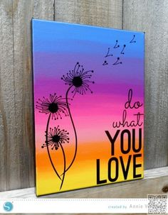 6. #Silhouette do What You Love - 31 Paintings You Can Copy for #Your… #Flowers