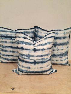 Indigo Shibori pillow cover Reserved for Debra. by PurehOMeLA