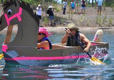 Brunswick Forest's Cardboard Boat Regatta Cardboard Boat Race, North Brunswick, Soggy Bottom, Craft Corner, Fun Ideas, Boats, Baby Strollers, Racing, Events
