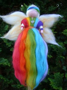 Rainbow fairy, Walldorf style by Stella Starlight