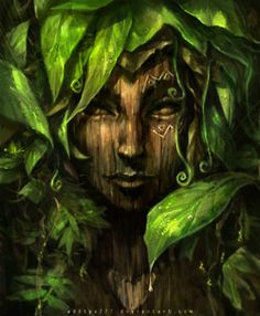 Aditya Ikranegara is an Indonesian digital artist. He creates surreal fantasy portraits. Aditya uses wide range of colours even though his portraits are often dark and mysterious. The artist general Illustration Inspiration, Creative Illustration, Illustration Art, Fantasy Creatures, Mythical Creatures, Flora Und Fauna, Nature Spirits, Deviant Art, Green Man