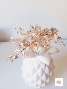 This item is unavailable Chinese Hair, Bridal Hairpiece, Head Accessories, Hair Vine, All That Glitters, Gold Leaf, Hair Pieces, Compliments, Vines