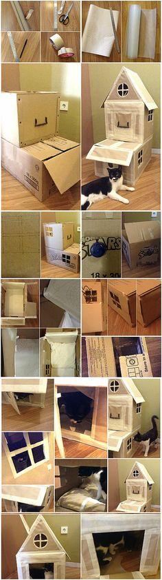 How To Make #DIY Cardboard Cat House | Cara Membuat Rumah Kardus Untuk Kucing #BikinSendiri | Baby Inc. Parenting Blog - Jakarta, Indonesia | #DIY #cathouse #pethouse #cardboard #kardus #rumahkucing #bikinsendiri