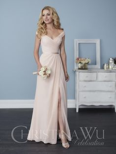 Check out the deal on Christina Wu Celebration 22758 Off Shoulder Bridesmaid Dress at French Novelty
