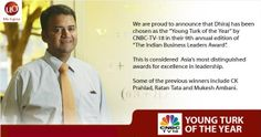 Dhiraj Rajaram, founder & CEO of Mu Sigma wins #cnbc #YoungTurks award at the 9th Indian Business Leader's Award ceremony.