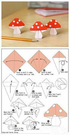 origami mushroom