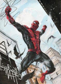 #Spiderman #Fan #Art. (Spider-Man Illustrations) By: Francesco Mattina.