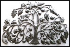 "Metal Wall Hanging, Tree of Life - 22"" x 34"",  Haitian Art, Steel Drum  Metal Art,  Home Decor, Tree Art, Metal Wall Art, Wall Decor - 343 by HaitiMetalArt on Etsy"