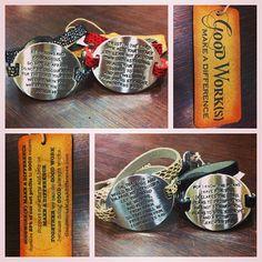 the prayer bracelet. $36