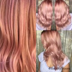 * BTC AFTERNOON QUICKIE! ROSE GOLD blend By #btconeshot finalist @hairbynoora…