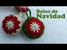 Bolas de Navidad a crochet - YouTube