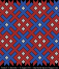 New brickstitch patterns for your enjoyment Redacted from the 14th C. altar frontal at the Cloisters Museum in NYC (which I recently re-visited). This time I've included photos of the original along with my patterns. (There are two - follow link).