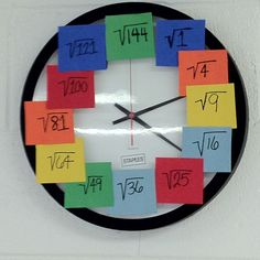 A great activity for the math classroom helping students with square roots. Got the pin from Middle Grades Math Middle School Classroom, Math Classroom, Classroom Clock, Classroom Ideas, Math Teacher, Teaching Math, Math Resources, Math Activities, Maths Display