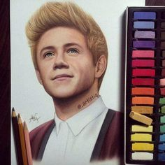 A very well done drawing of Niall from one direction