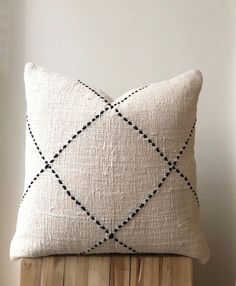 Organic cream neutral colour cushion with black stitching Australia coastal cushions Home Decor Natural Boho Raw Cotton Pillow. Small Pillow Cases, Small Pillows, Diy Pillows, Decorative Pillows, Cream Pillows, Decorative Accents, Boho Throw Pillows, Silk Pillow, Cotton Pillow