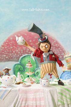 Miniature Model Characters by Caroline McFarlane-Watts. Alice in Wonderland