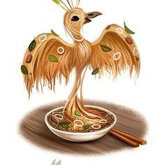 Daily Paint 1267. Pho-nix  #cute #art #soup #photoshop