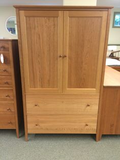 Shaker 2 Drawer Armoire, Chilton Furniture, Freeport, ME, 888 510