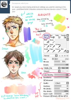 "Back again I thought I'd share this as well huhu. Um, you can change the ""Color Blending"" to whatever you want! If you want easier blending, then put it on 100! But if you want some stark contrast with minimal blending, put it to 0 or something yep yep that's it!"
