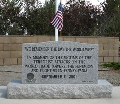 We remember the day the world wept. In memory of the victims of the terrorist attacks on The World Trade Towers, The Pentagon and Flight 93 in Pennsylvania. SEPTEMBER 11, 2001