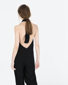 1e22196766eb Crepe jumpsuit with back bow