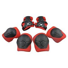 Kids' Cycling Protective Gear - Diamond Talk Sports Protective Gear Safety Pad Safeguard Knee Elbow Wrist Support Pad Set Equipment for Kids Youth Roller Bicycle BMX Bike Skateboard Hoverboard Protector Guards Pads ** For more information, visit image link.