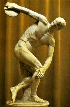 Mitologia - ARTE: ESCULTURA DE LA ANTIGUA GRECIA Discóbolo de Mirón