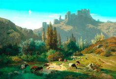 Rosa Bonheur Landscape with Cattle 1856 Realism