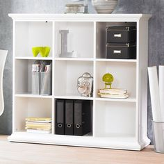 Tvilum Sonoma Collection Bookcase - White - For a functional piece of accessory furniture that embodies a modern aesthetic, opt for this Tvilum Sonoma Bookcase – White. Its six shelves...