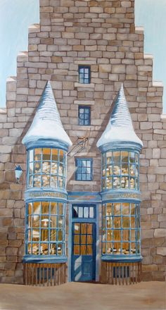 Ollivanders painting by Dina Bielby