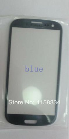5pcs/lot  BLUE Outer Glass for sam galaxy s3 glass touch screen front lens i9300 free shipping $24.29