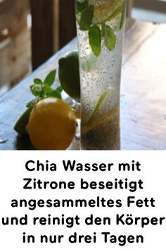 Chia Wasser mit Zitrone beseitigt angesammeltes Fett und reinigt den Körper in … Chia water with lemon eliminates accumulated fat and cleanses the body in just three days Lemon Benefits, Coconut Health Benefits, Health And Nutrition, Health And Wellness, Health Tips, Detox Drinks, Healthy Drinks, Lose Weight, Weight Loss