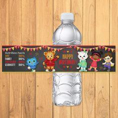 Daniel Tiger Drink Labels Chalkboard * Daniel Tiger Birthday * Daniel Tiger Water Bottle Labels * Daniel Tiger Favors