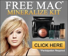 You can get a Free MAC Mineralize Kit from Mac Cosmetics! Mac Cosmetics Collection are offering the Glamorous Mineralize Kit which comes with Indianwood Paint Pot, Zoom Lash Mascara, Blessedly Rich Lipglass and Noble Touch Mineralize Free Beauty Samples, Free Samples By Mail, Free Makeup Samples, Free Cosmetic Samples, Mac Samples, Makeup Lessons, Makeup Class, Makeup Store, Mac Makeup