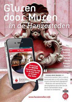 Gluren door muren in Hattem. Deze app is gratis te downloaden voor Android en Apple.
