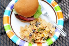 Fiesta Chicken Pasta Salad     {This recipe is part of a Philadelphia Cooking Creme contest. Please click on the recipe link and vote for this recipe if it's your favorite!!}