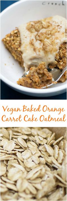 Make this vegan carrot cake baked oatmeal and you have a healthy breakfast for a whole week! Best part is that you can freeze the individual servings too.