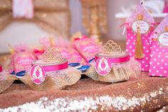 Styling a party fit for a princess? Kara's Party Ideas presents a Royal Princess Baby Shower filled with perfect pics and details! Princess Favors, Princess Theme, Baby Shower Princess, Royal Princess, Baby Princess, Baby Shower Favours, Baby Shower Invitations, Shower Party, Baby Shower Parties