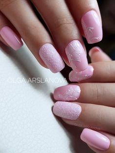 Love Nails, My Nails, Lady Fingers, White Nail Art, Short Nail Designs, Nagel Gel, Short Nails, Pink And Gold, Hair Beauty