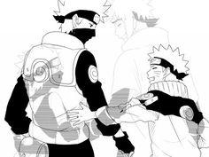 Kakashi Sensei and Naruto Uzumaki