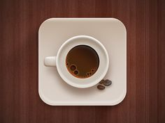 most people like to take pictures of what  they are eating/ drinking so i think this is a good idea to have a cup of coffee that looks like a camera when looked from above. AR