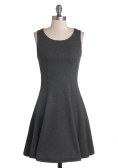 a perfect and simple black (grey) dress.